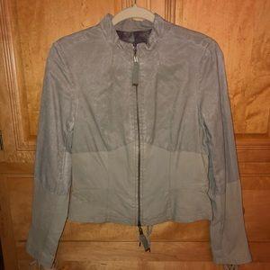 L.A.M.B Leather Moto Lace-Up Jacket